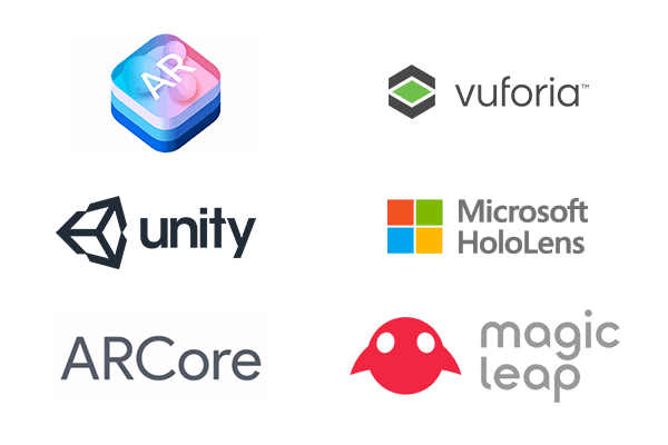 Invonto uses different augmented reality technologies including Oculus, Unity, ARKit, and ARCore