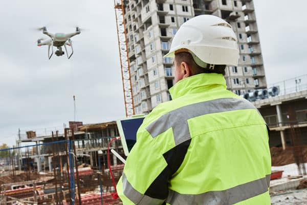 drones in construction projects are perfect for surveying construction sites
