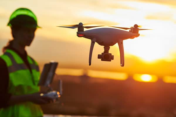 construction project planning with drones and artificial intelligence