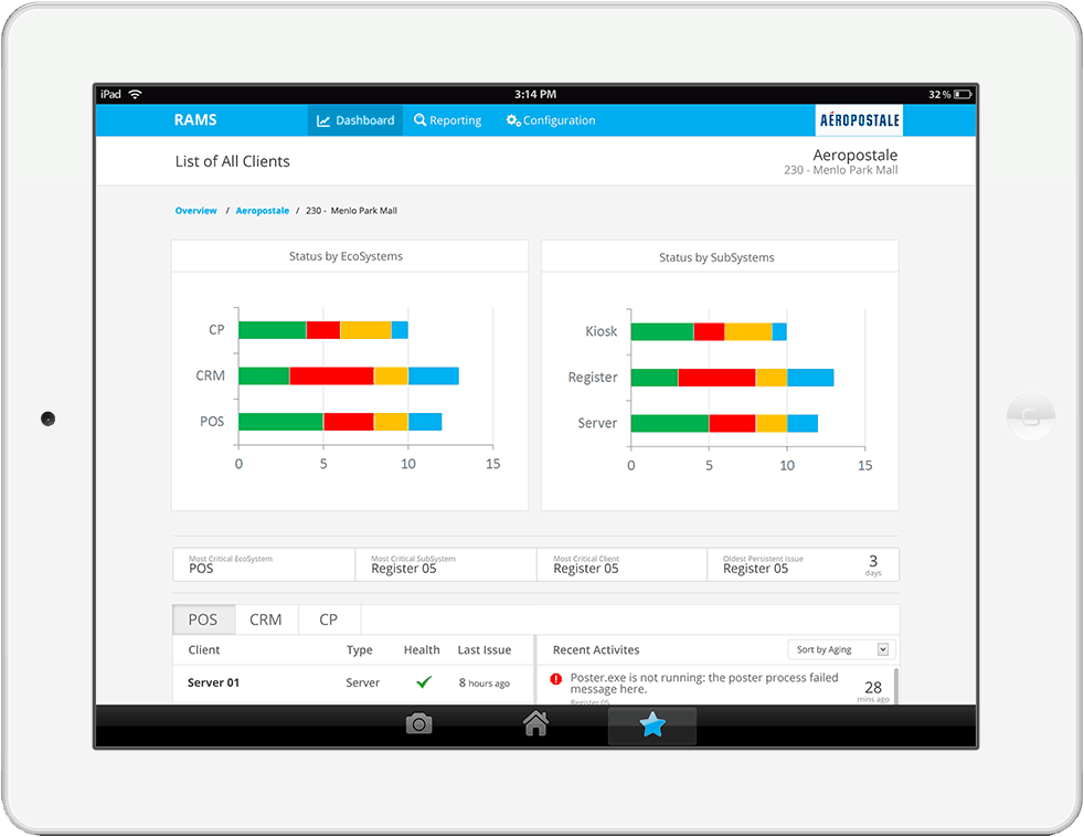 Client List View - Epicor iPad Design