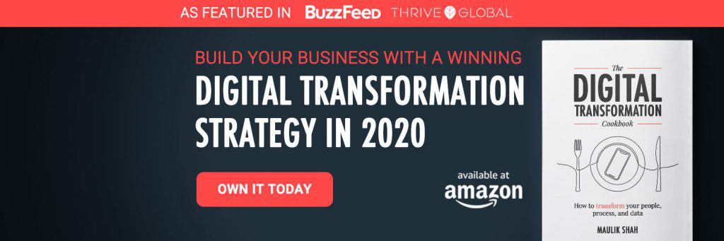 Purchase the Digital Transformation Cookbook for digital transformation trends and strategies. Available on Amazon.